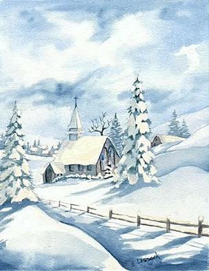 Winter Church by e.
