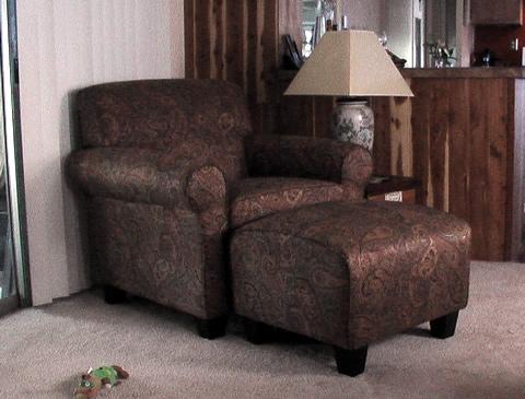 Paisley Chair & Ottoman