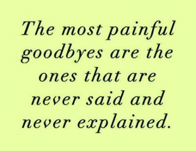 The good-byes you never said