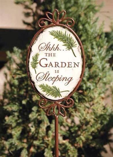 garden is sleeping